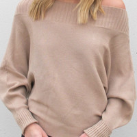 The Head Turner Sweater {taupe}