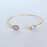 Drop The Crystal Bangle in Pink