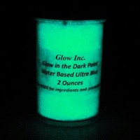 Ultra Blue Glow in the Dark Paint 1/2 Fluid Ounce