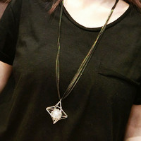 Retro Casual Long Necklace + Gift Box Jewelry-52