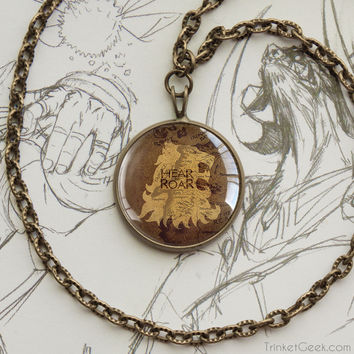 Thrones pendant Lannister Casterly Rock map