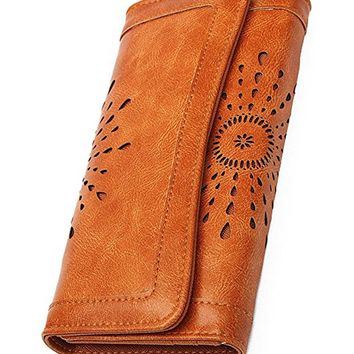 Women's Lady Leather Wallet Purse Credit Card Clutch Holder Long Wallets