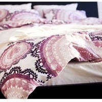Ikea Home Indoor Duvet cover and pillowcases white lilac