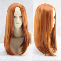 The Avengers costume pastel wig ombre heat resistant synthetic wigs orange wig cheap cosplay wigs for womens hair style straight