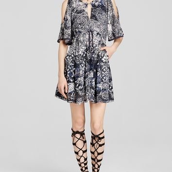 Free People Dress - Love Birds Mini in Clementine Combo