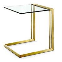 Goldie Side Table GLASS/GOLD