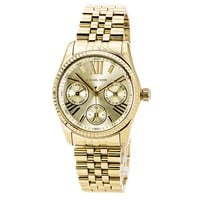 Michael Kors MK5808 Women's Mini Lexington Gold Dial Gold Plated Steel Bracelet Watch