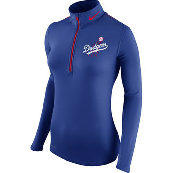 Los Angeles Dodgers Nike Women's Cooperstown Half-Zip Performance Jacket - Royal