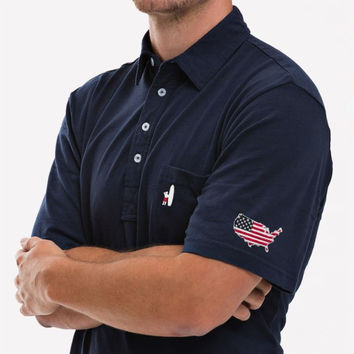 Johnnie-O - Stars and Stripes Original 4-Button Polo