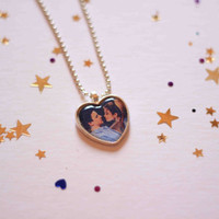Corey an Topanga heart cameo necklace - Boy Meets World