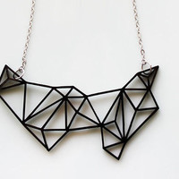 Geometric Necklace Prism & Triangles Minimalist Necklace by iluxo