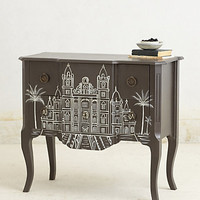 Handpainted Architecture Chest