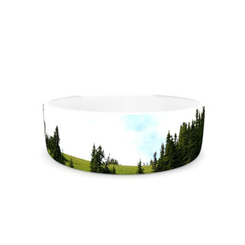 "Robin Dickinson ""Going to the Mountains"" Green Blue Pet Bowl"