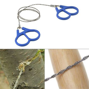 DCCK7N3 Outdoor Plastic Steel Wire Saw Ring Scroll Emergency Survival Gear Travel Camping Hiking Hunting Climbing Survival Tool Hot Sale