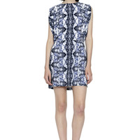 Abstract Ikat Kissing Back Kimono Dress