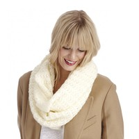 Sole Society Pointelle Knit Infinity Scarf