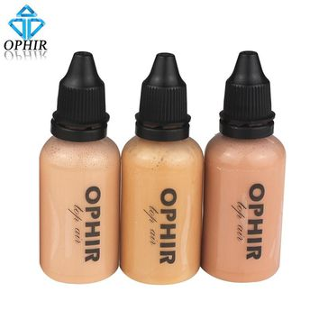 OPHIR Airbrush Makeup Foundation Inks 3 Colors Air Foundation for Face Paint Make-up Salon Cosmetic Makeup Pigment_TA104(2-4-5)