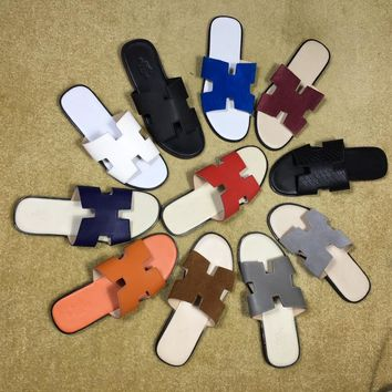 Hermes Oran Sandals / slippers / flip flops for men Size: 38-44