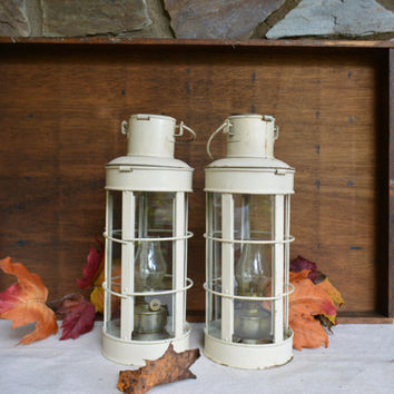 Vintage Nautical Oil Lamps – Hanging Oil Lamps – Nautical Oil Lanterns – Vintage Ships Oil Light  - Indoor Lamp - Outdoor Lamp