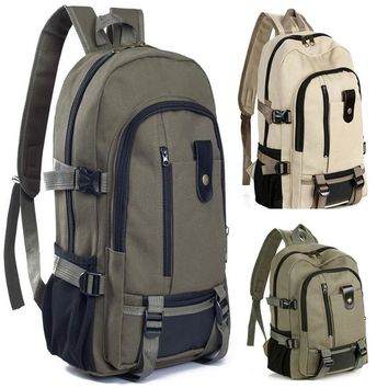 New207 New Arrival High Quality Vintage Travel Canvas Men Leather Backpack Rucksack Satchel School Bag Fast Shipping