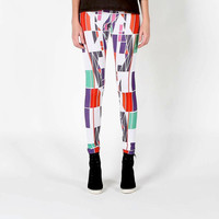 eco friendly geometric print bamboo leggings