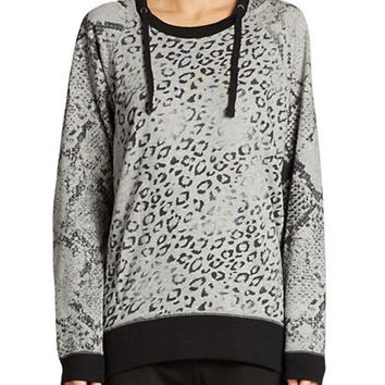 Dkny Jeans Animal Print Top