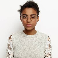 Milton Eyeglasses in Jet Silver for Women | Warby Parker