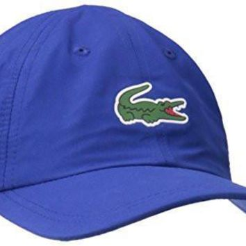 ca spbest Lacoste Men's Sport Polyester Cap with Green Croc, France, TU