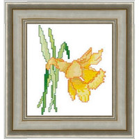 Narcissus - PDF Cross Stitch Pattern - INSTANT DOWNLOAD