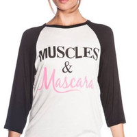 Muscles & Mascara Baseball Tee