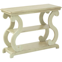 OSP Ashland Console Table, Antique Celedon Finish