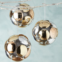 Shiny Circle Ball Christmas Ornaments, Set of 3 - Jim Marvin