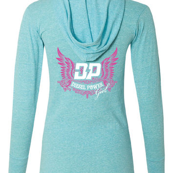 Ladies Hooded Pullover T shirt
