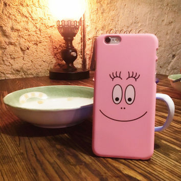 Iphone SE / 6 / 6plus frosted smiley cartoon case