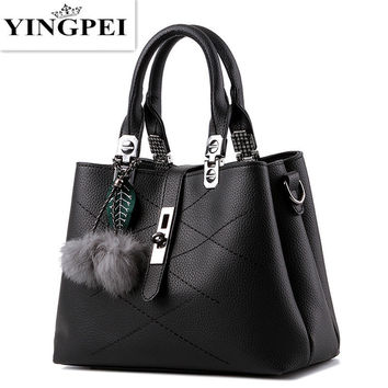 YINGPEI crossbody for women messenger bags handbags famous brands leather luxury designer BlackBlue school ladies hand bags