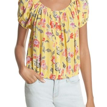 Joie Derfuta Floral Silk Bubble Top | Nordstrom