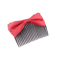 2017 Korean Hair Accessories Inserted Comb Clips For Hair Handmade Ribbon Bow Hair Accessories
