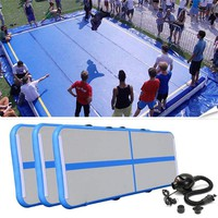 Newest Portable 0.9*3m Inflatable Tumble Track Trampoline Air Track Taekwondo Gymnastics Inflatable Air Mat with 220v Pump