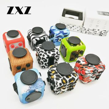Original Camouflage Fidget Cube EDC Spinner Toy with Case Anti Stress Desk AntiStress Vent Toys