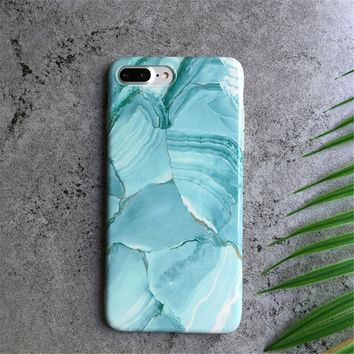 Hight Quantity Old Green Marble Stone Pattern Case for iPhone X 8 7 6S Plus &Gift Box