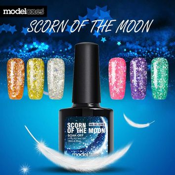 Modelones 2017 Newest Color Gel Polish Hot Sale Glitter UV Nail Gel Polish Blue Led UV Nail Varnish Nail Art Sequins Gel Polish