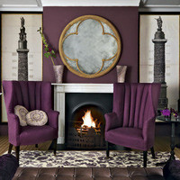 Purple living room | Living room designs | Paint colours | h... - Polyvore
