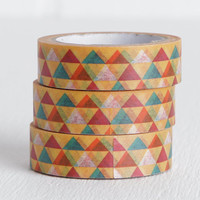 Triangles Washi Tape, Pyramid Geometric Masking Tape, 15mm x 10m