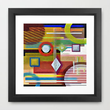 COLOR BLUES Framed Art Print by Robleedesigns