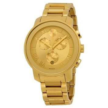 Movado Bold Gold Ion Chronograph Watch 3600209