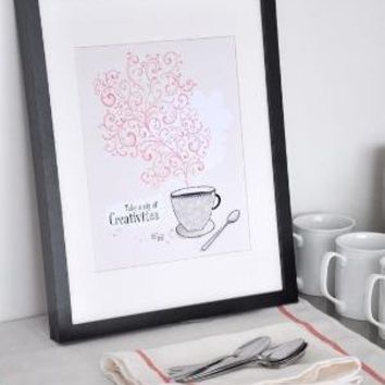A Sip of Creativitea 85X11 by evajuliet on Etsy