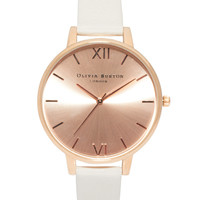 Olivia Burton Big Dial Rose Gold Watch - Rose gold/nude