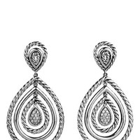 Women's David Yurman 'Cable Classics' Teardrop Earrings with Diamonds - Diamond