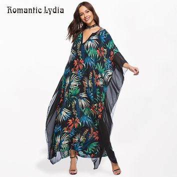 Women Kaftan Long Boho Dress Plus Size Summer Chiffon Loose Robe Femme Bohemian Maxi Dresses Large Sizes New Arrival