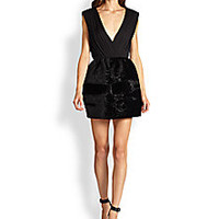 Alice + Olivia - Riva Stretch-Silk Jacquard Pouf Dress - Saks Fifth Avenue Mobile